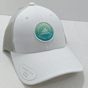 Adidas Trucker's Hat Cap Womens White New Snapback